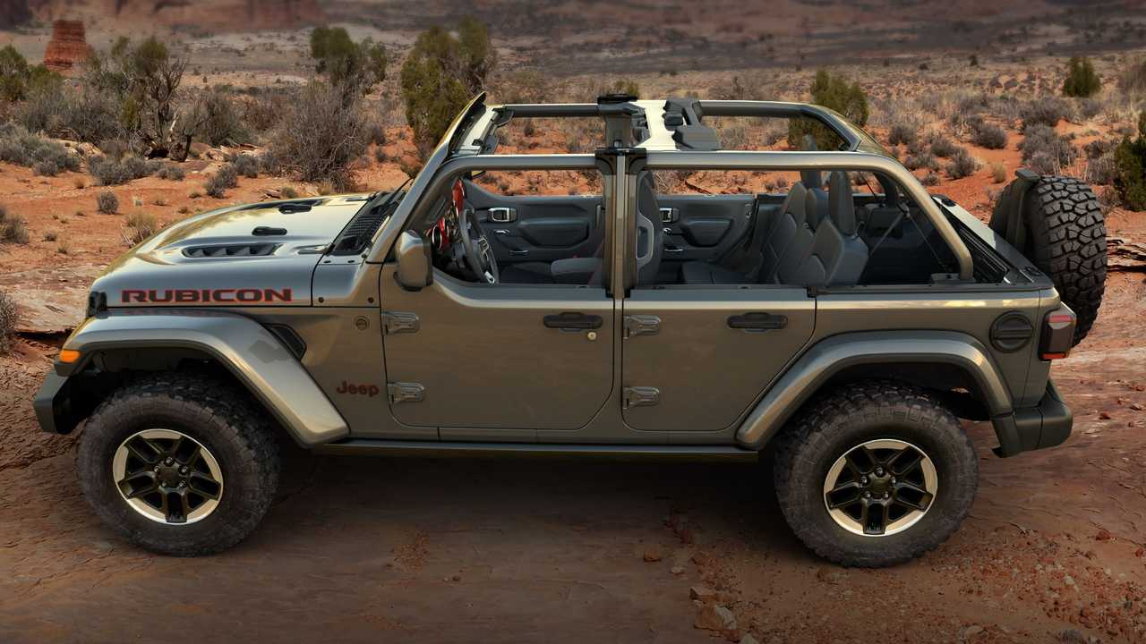 Jeep Wrangler half doors with upper section removed