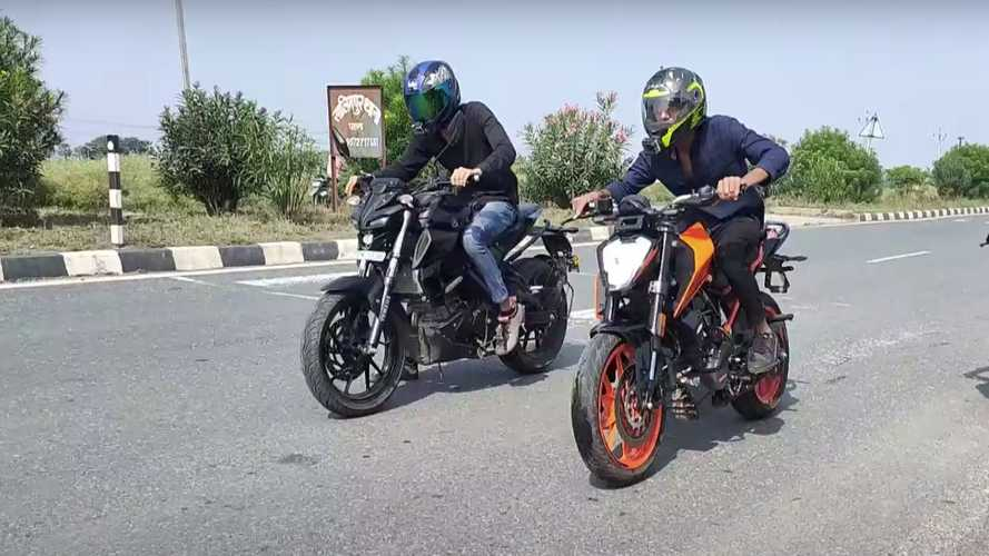 Check Out This Drag Race Between A KTM 200 Duke And Yamaha MT-15