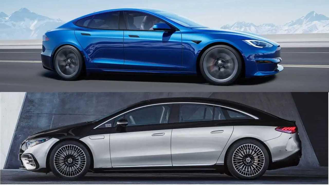 Tesla Model S Plaid und Mercedes EQS im Vergleich