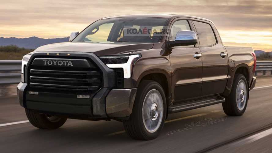 2022 Toyota Tundra Rendering Attempts To Peel Off The Camouflage