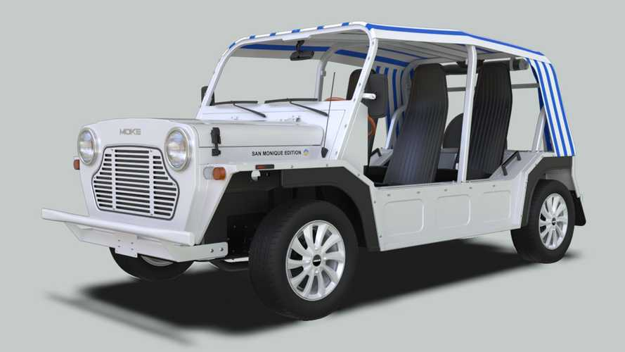 You can now buy an electric version of the Moke James Bond drove