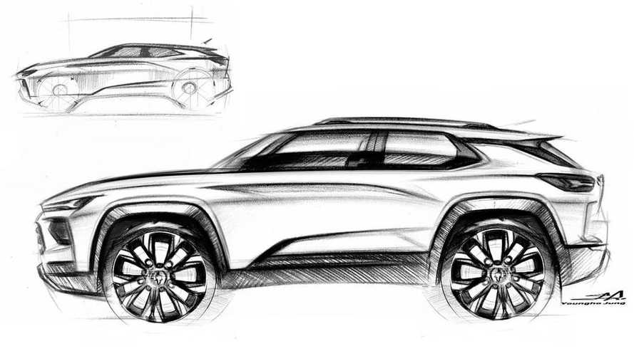 GM Chevy Crossover Sketch Is Distillation Of Modern SUV Design