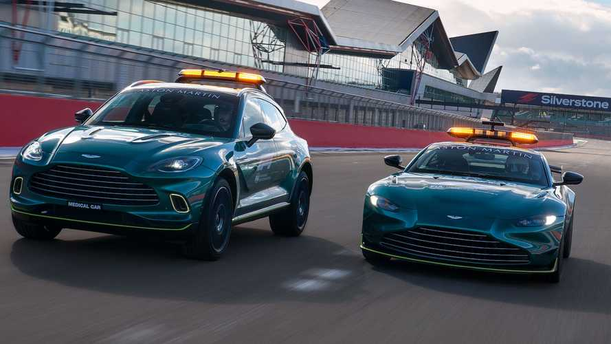 Aston Martin Shows Off Official F1 Safety, Medical Cars For 2021 Season