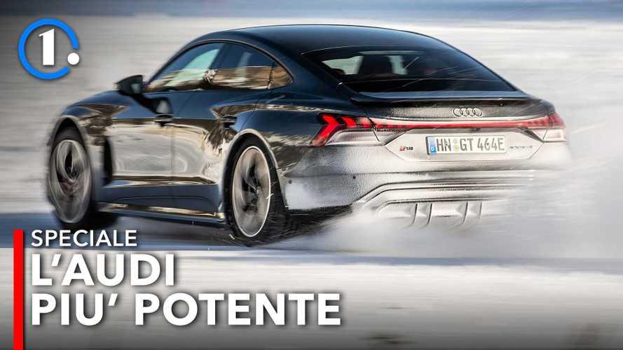 Audi RS e-tron GT, prima prova sulla neve con 646 CV