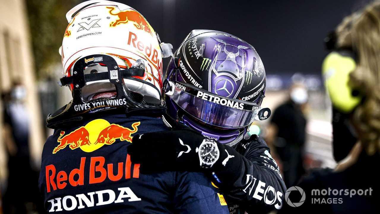 Max Verstappen and Lewis Hamilton at Bahrain GP 2021