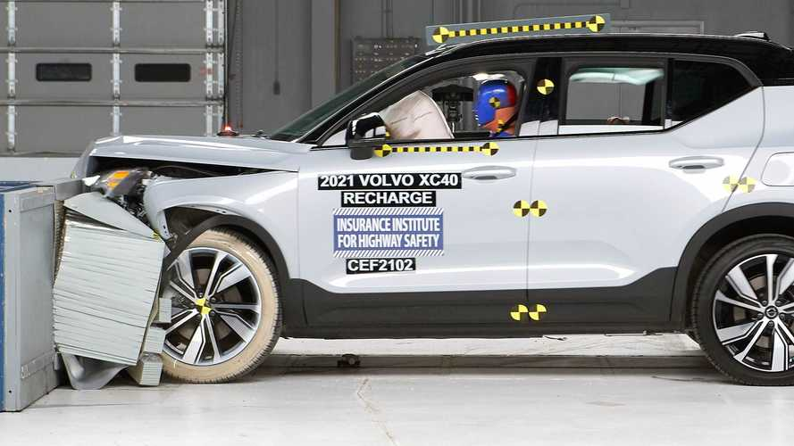 2021 Volvo XC40 Recharge Earns IIHS Top Safety Pick+ Award