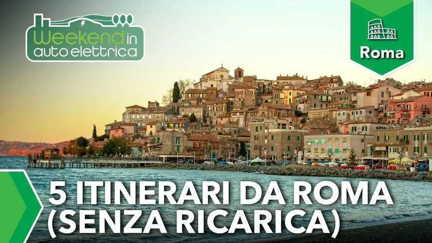 Gite fuori porta in auto elettrica: 5 itinerari brevi da Roma