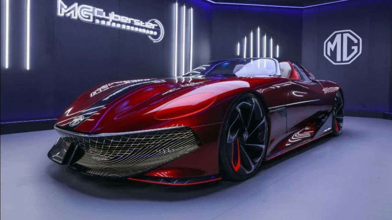 MG Cyberster Concept In The Metal Shanghai Auto Show