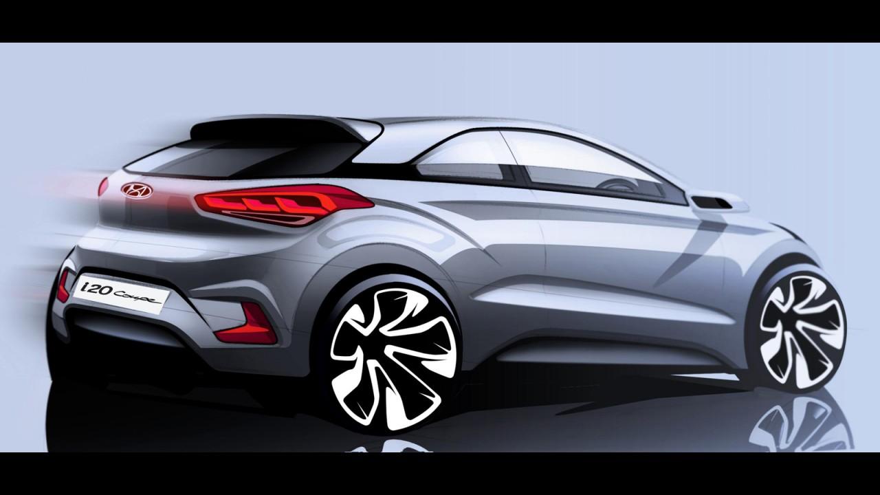 Surge primeiro esboço do novo Hyundai i20 Coupe