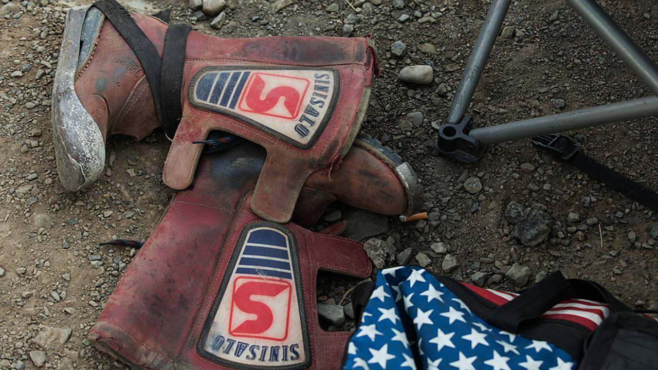 Racing boots, with a steel hotshoe are a must