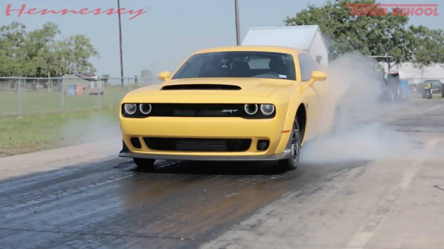 Hennessey Dodge Demon Clocks Crazy 9.14-Second Quarter-Mile Time