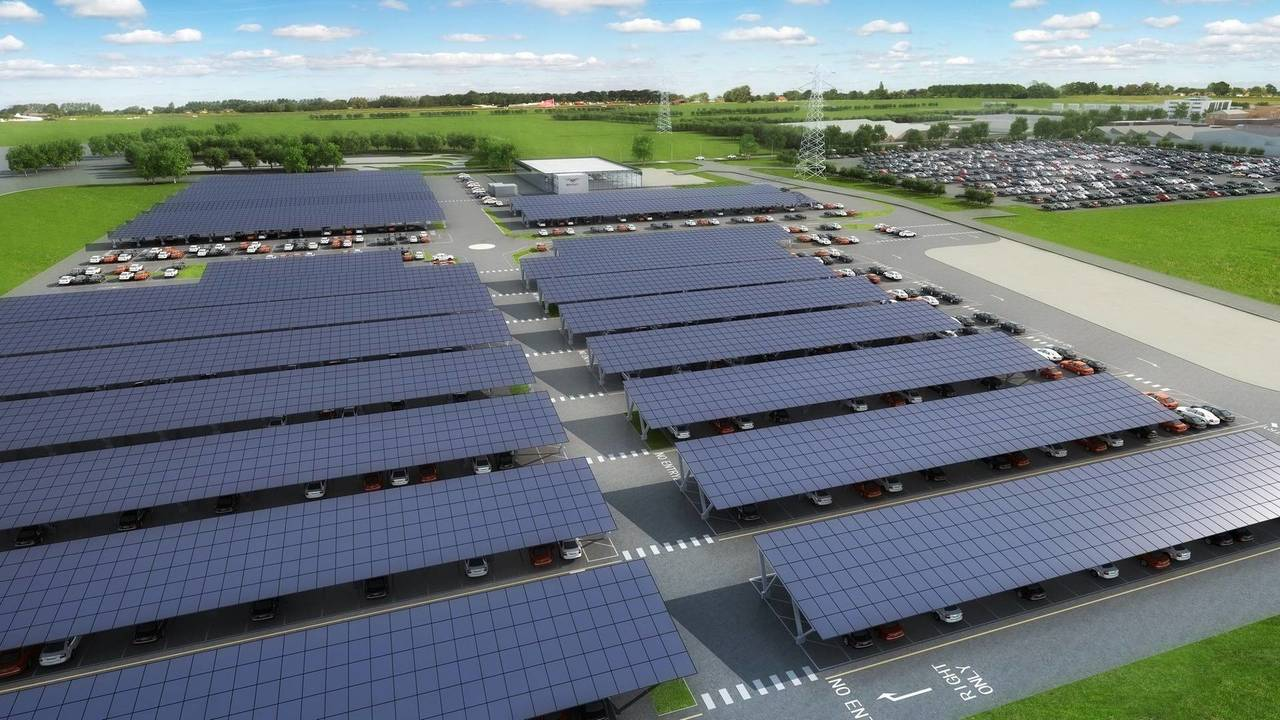 Bentley largest solar-powered car port in the U.K.