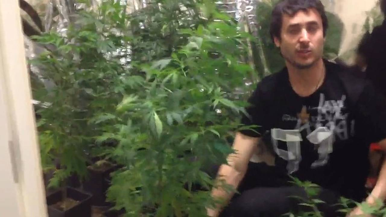 Watch a motorcycle racer lose his marijuana medicated mind
