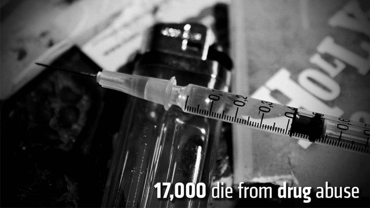 17,000 die from drug abuse