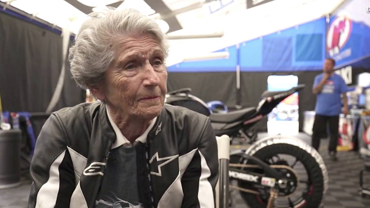 91-Year-Old Woman Tears Up the Track on a Gixxer