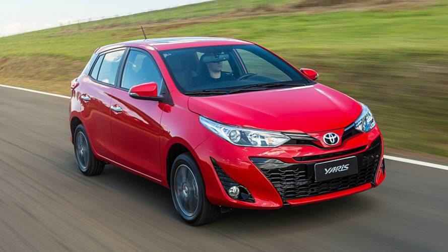 Toyota Yaris supera Argo e fica no top 5 da Argentina
