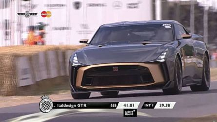 La Nissan GT-R50 par Italdesign défile à Goodwood
