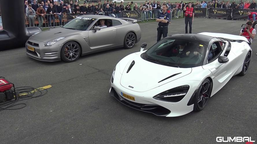 McLaren 720S Fights Tuned GT-R, Stock RS3 Sedan At The Drag Strip