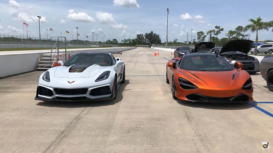 McLaren 720S Duels Corvette ZR1 In Quarter Mile