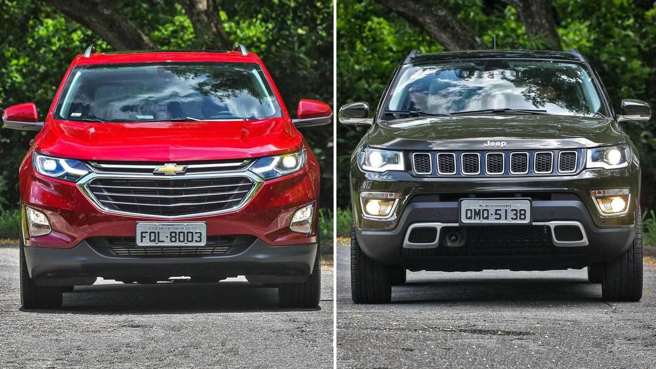 Chevrolet Equinox Premier vs. Jeep Compass Longitude turbodiesel