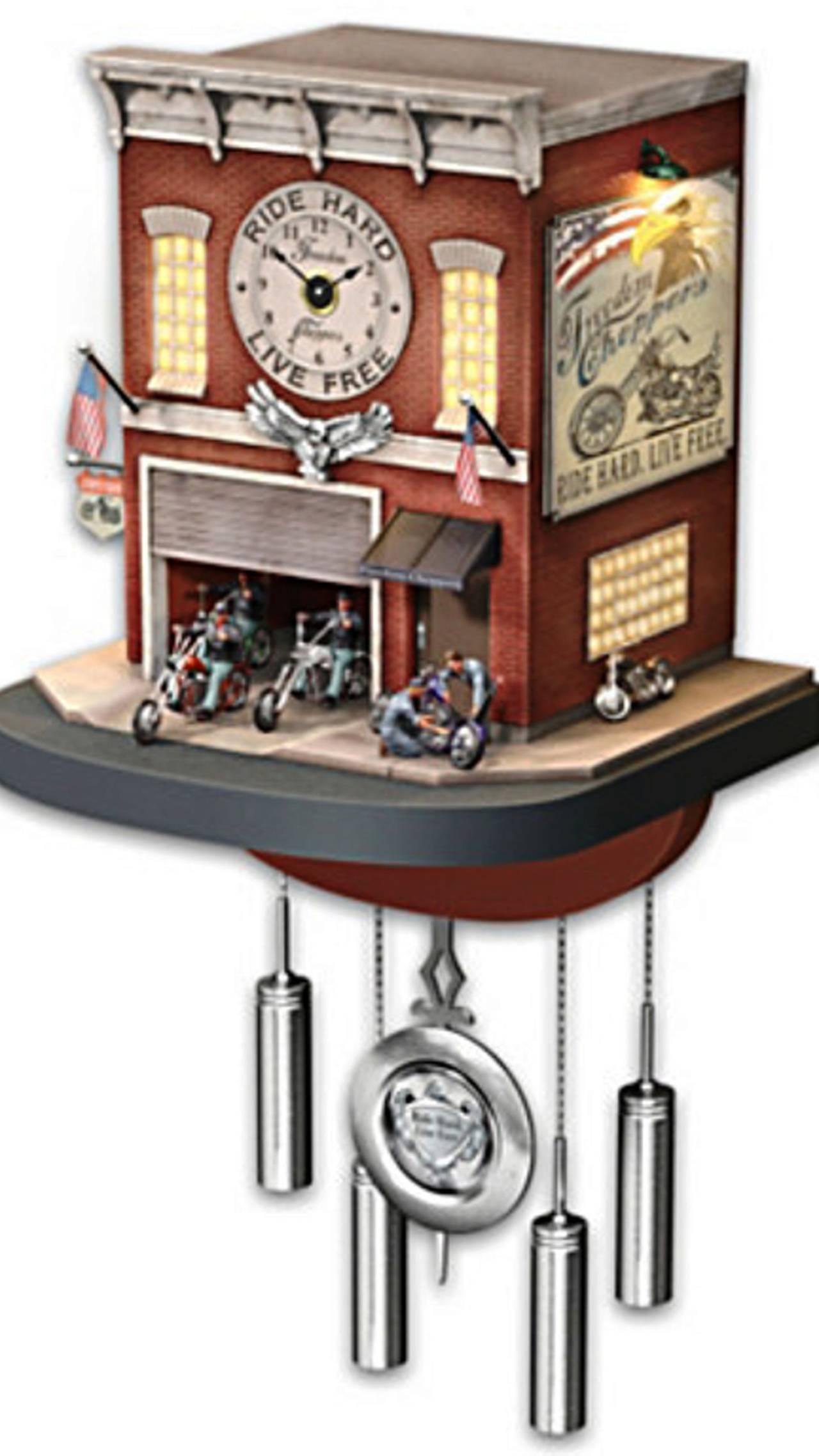 <em>Freedom Choppers cuckoo clock at <a href=