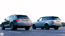 Bentley Bentayga races Land Rover Range Rover