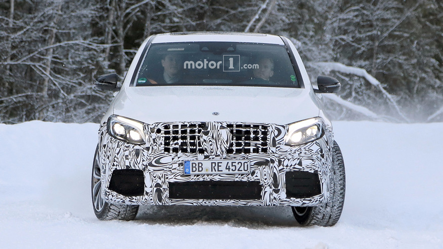 2018 Mercedes-AMG GLC 63 Coupe spy photos