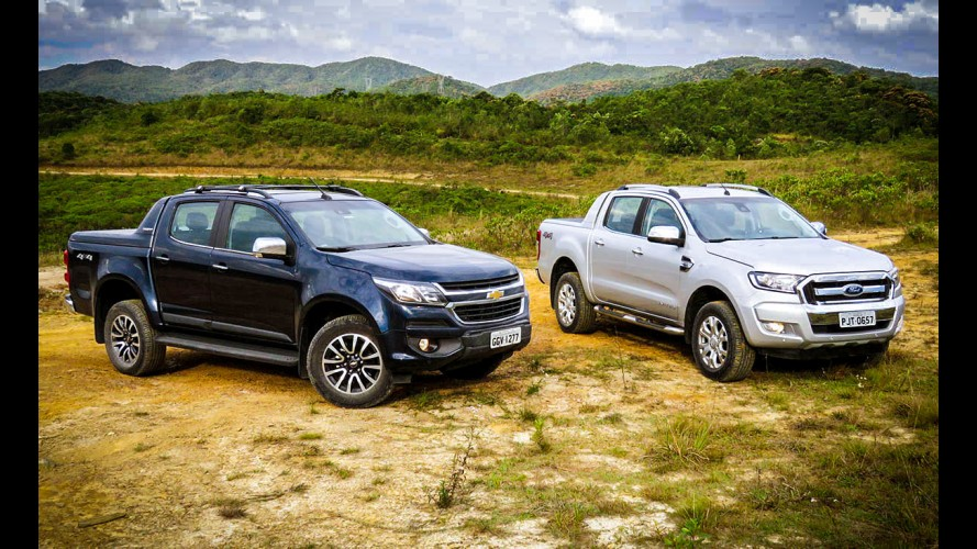 Teste CARPLACE: Novas GM S10 e Ford Ranger 2017 disputam clássico do interior