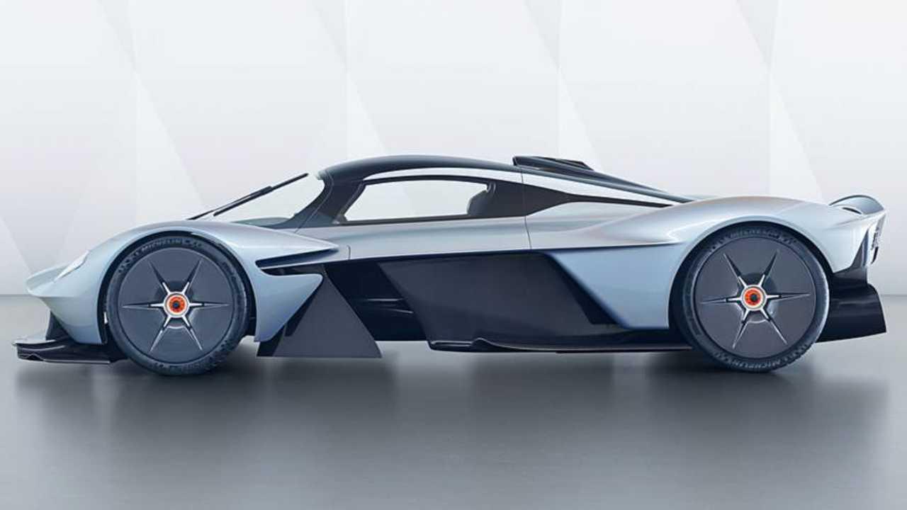 Aston Martin Valkyrie near production body