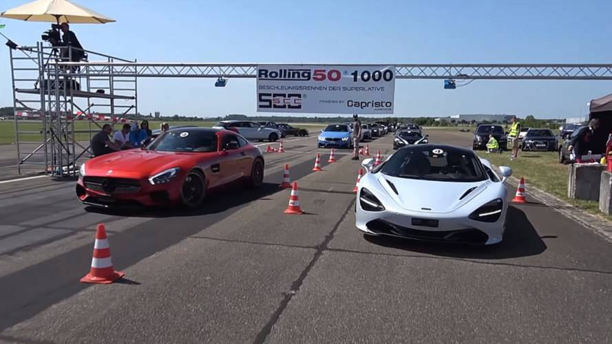 Watch McLaren 720S crush the opposition in rolling races
