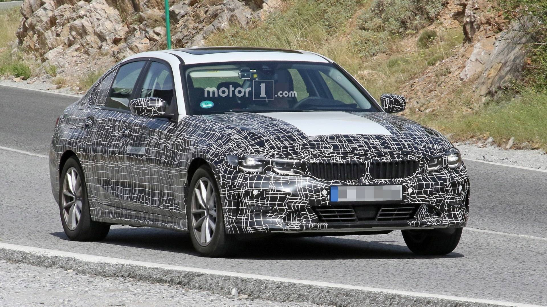 Bmw 3 Series Electric Prototype Spied With Fake Exhaust Tips