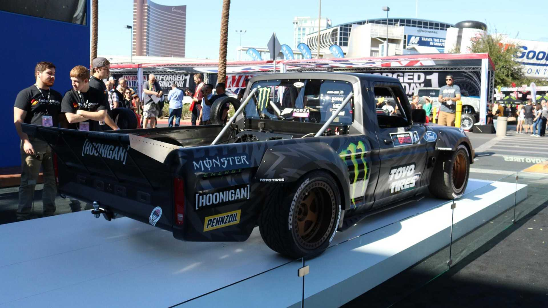 Ken Block's Crazy AWD F-150 Hoonitruck Revealed With Ford GT
