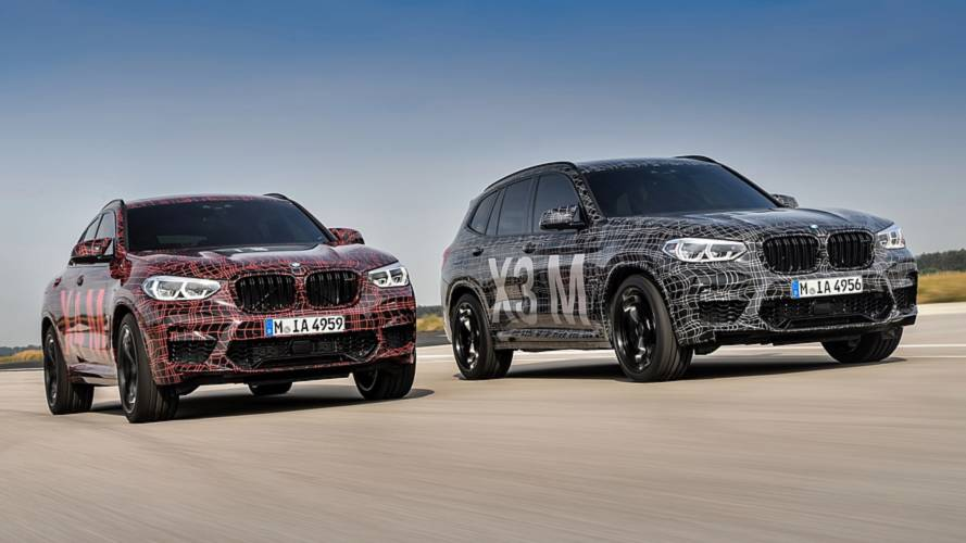 BMW X3 M and X4 M officially previewed with camouflaged prototypes