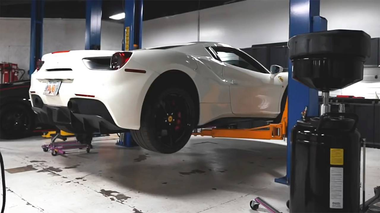 Here S How You Change The Oil On A Ferrari 488 Spider