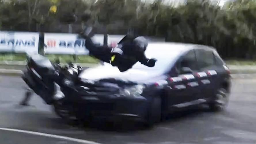 Motorcycle Airbag Crash Test Video