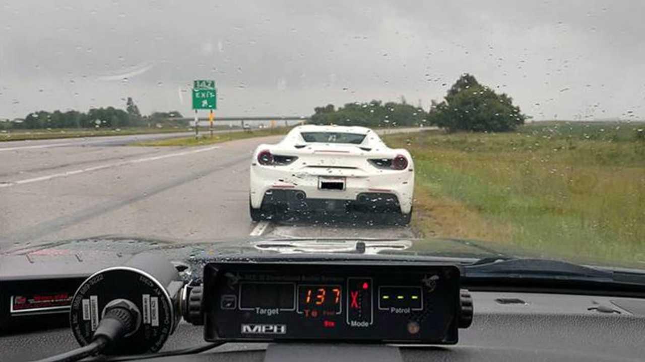 Ferrari Going 137 mph