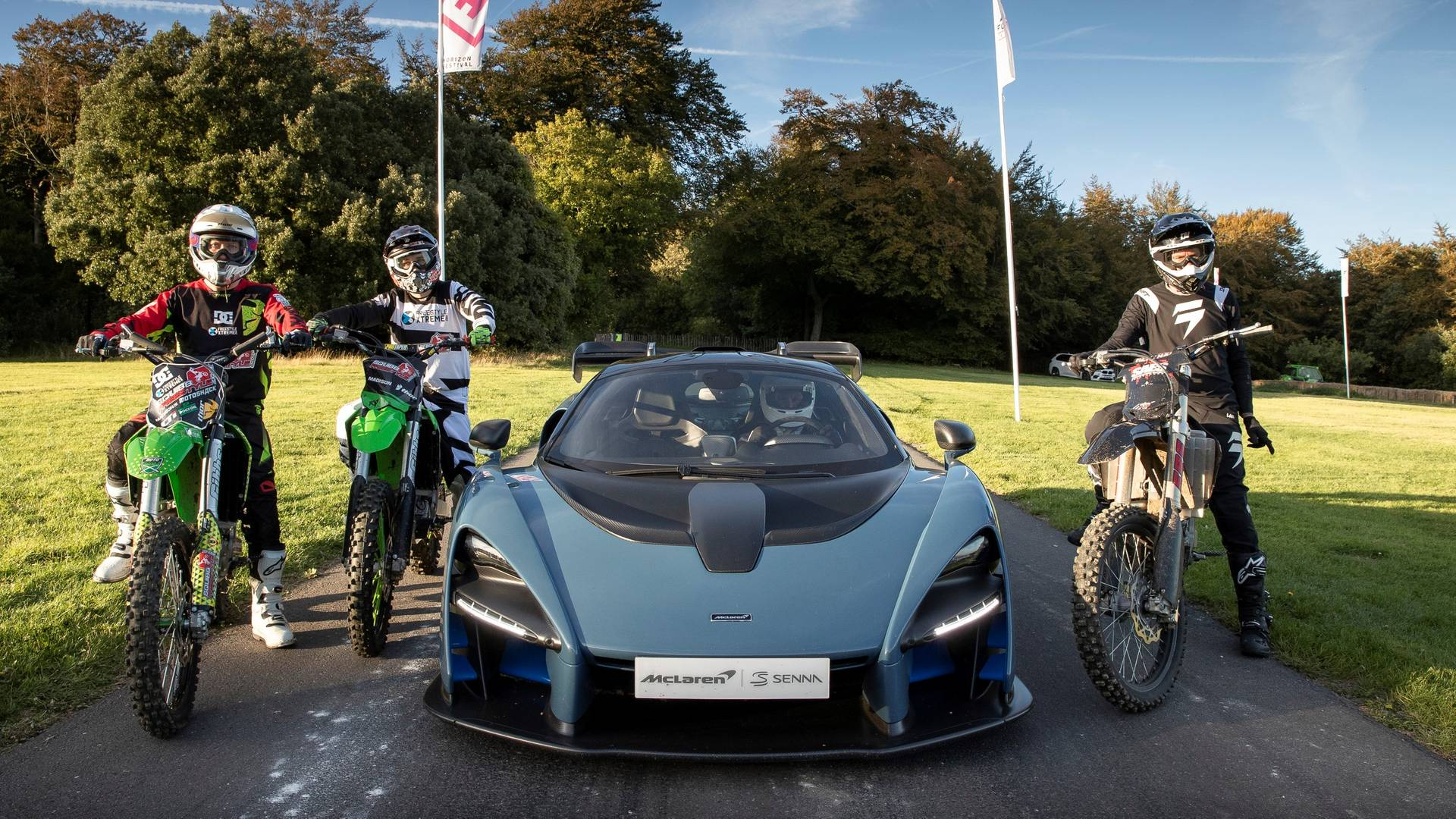 mclaren launches forza horizon 4 with epic goodwood race