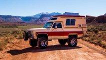 1976 Chevy Blazer Chalet bed camper