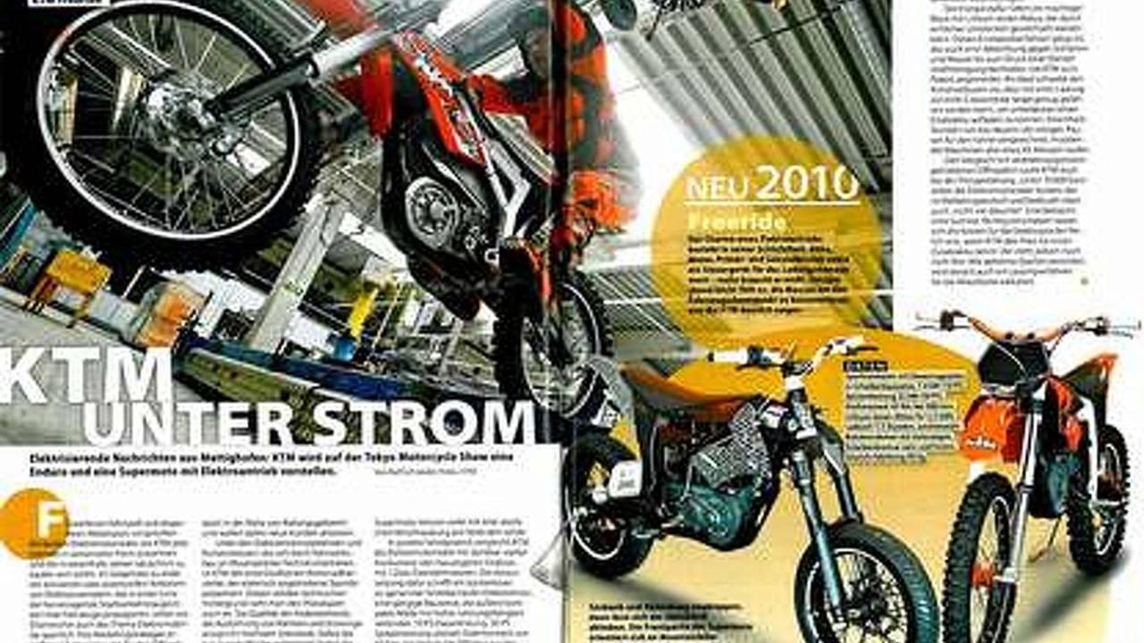 KTM FREERIDE leaks in German magazine