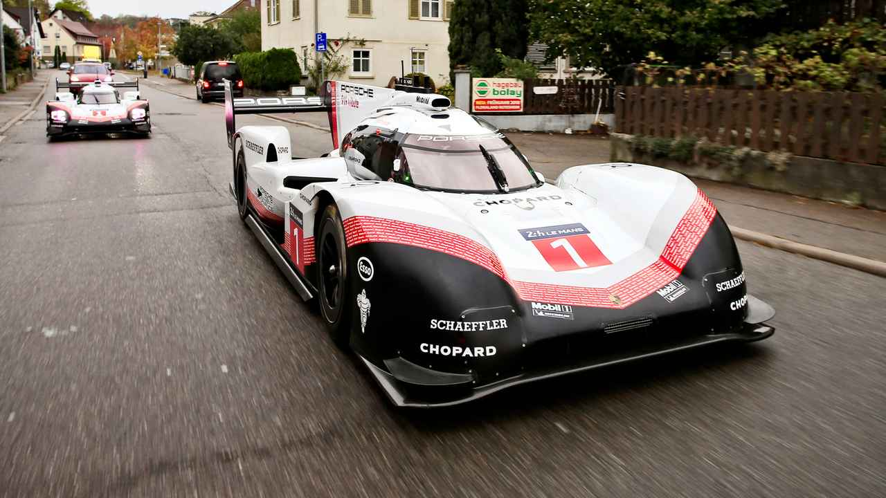 Porsche 919 Hybrid Evo on German public roads