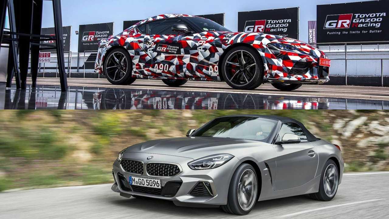 2019 BMW Z4 M40i and 2019 Toyota Supra prototype