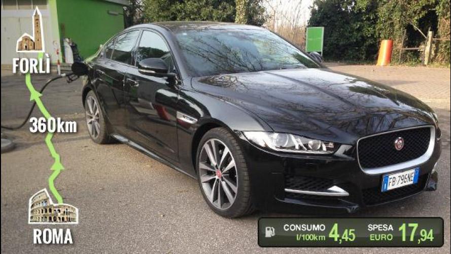 Jaguar XE 20d, la prova dei consumi reali