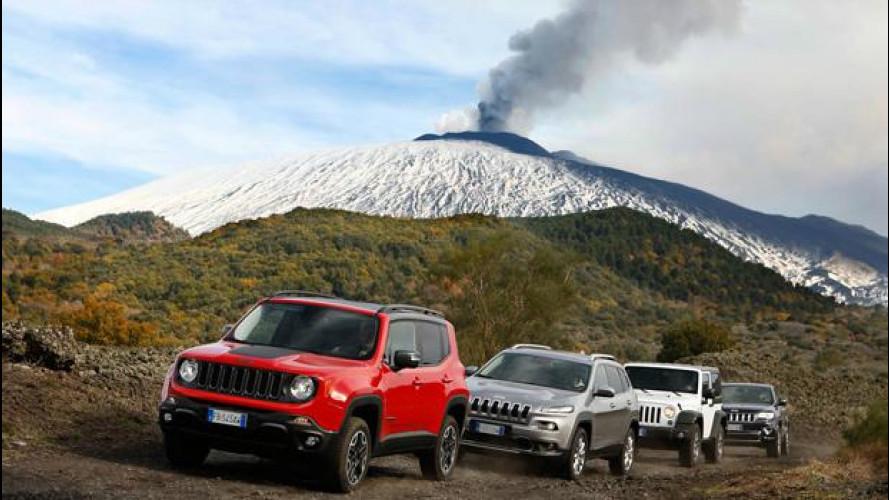 Jeep, l'emozione in fuoristrada dall'Etna agli USA
