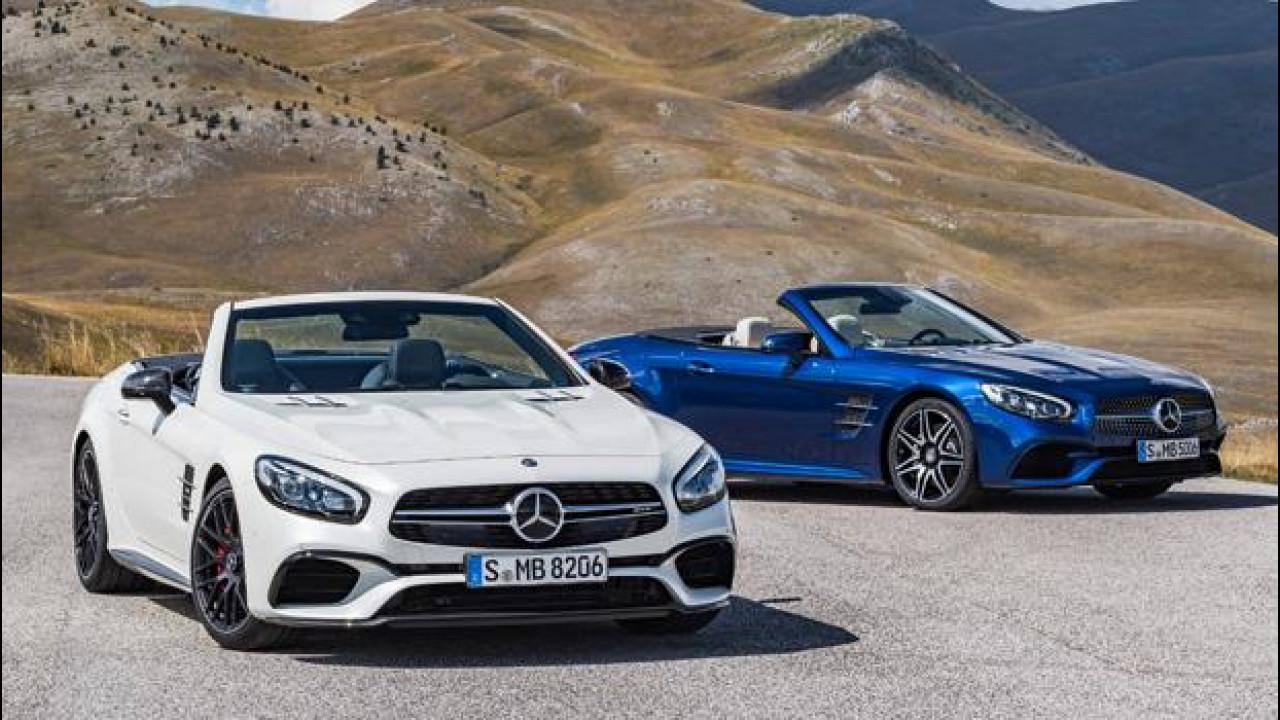 [Copertina] - Mercedes SL restyling, più potente e con cambio 9 marce di serie