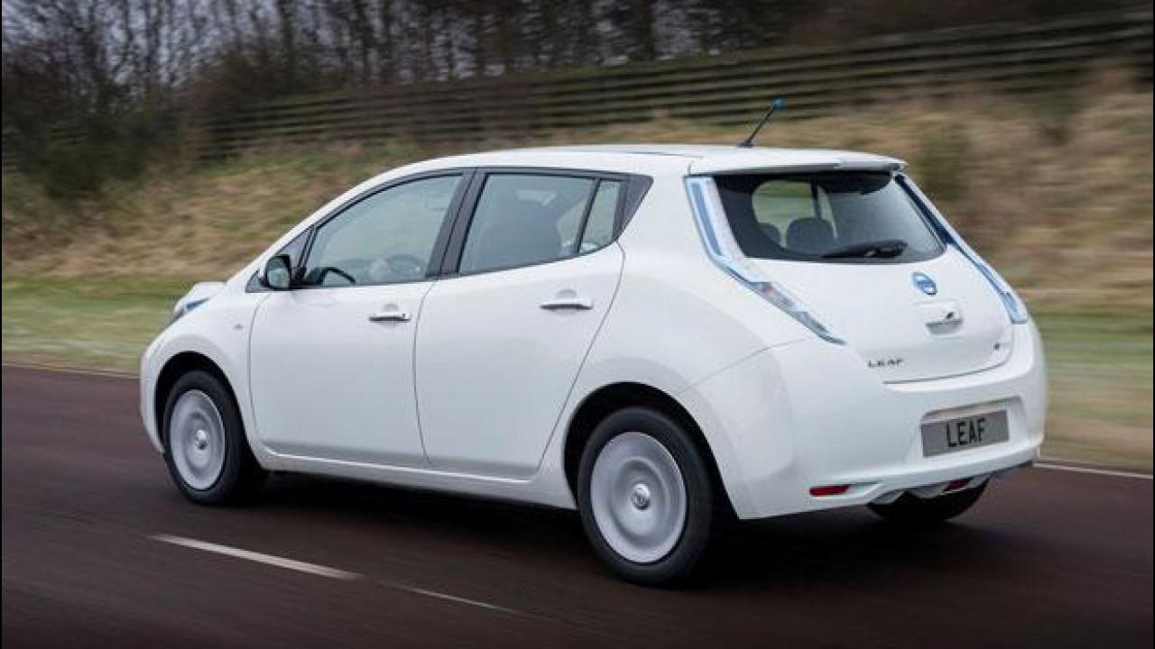 [Copertina] - Nissan Leaf MY 2016 si vede e si prova in anteprima ad H2R