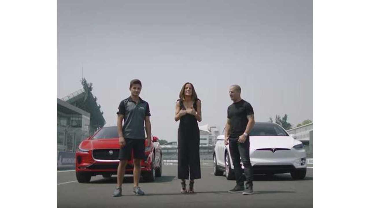 Jaguar I-Pace Versus Tesla Model X - Race Video