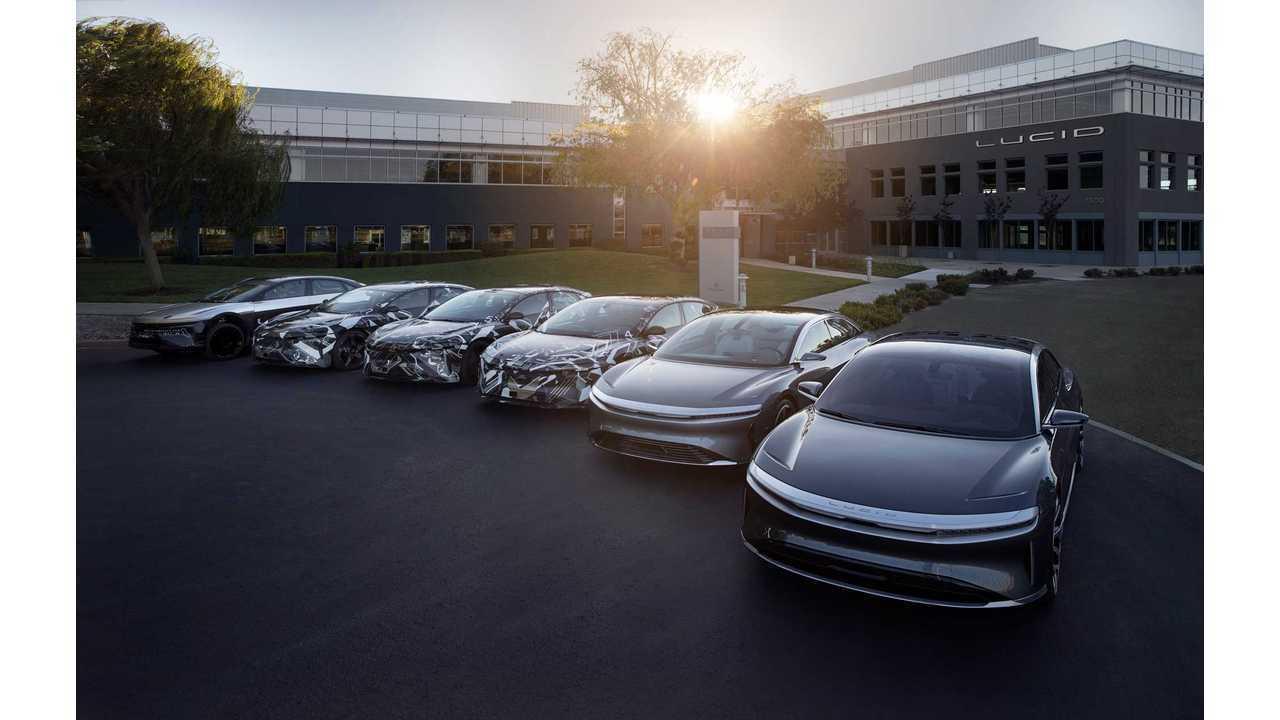 Fleet of Lucid Air electric cars