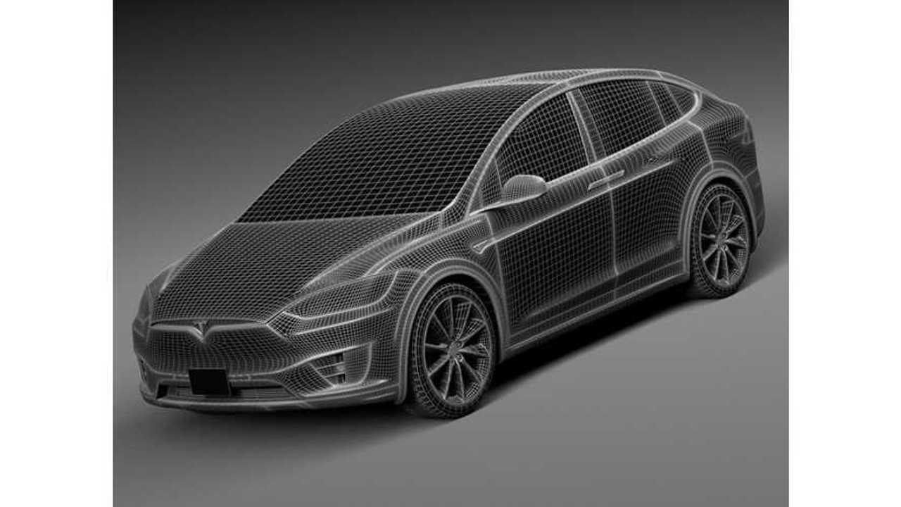 3D Tesla Model X (CreativeCrash)