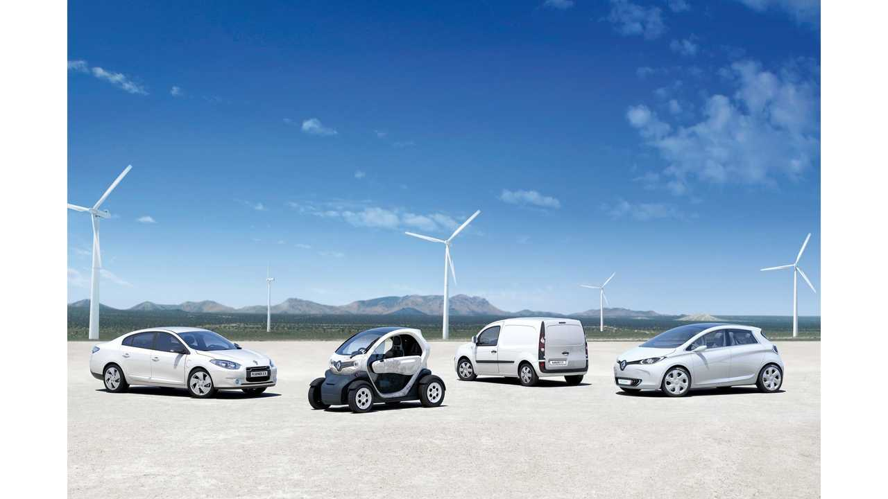 Renault Electric Car Sales Up 58% In November (2,000 ZOE Sold)