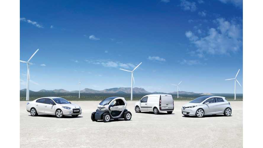 Renault Electric Car Sales Up 58% In November (2,000 ZOE Sold)